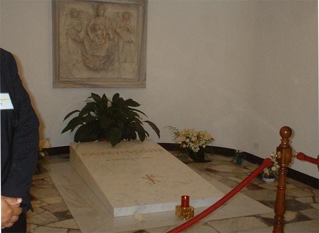 Tumba Papa Juan Pablo II Basílica San Pedro Roma