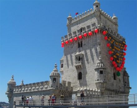 Torre de Belem decoración flamenco Lisboa