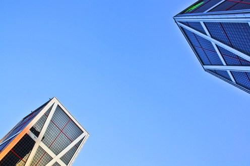 Torres KIO Bankia Plaza Castilla cielo Madrid
