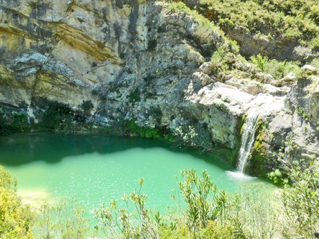 Caída agua Barranco Encantada Benali Alicante