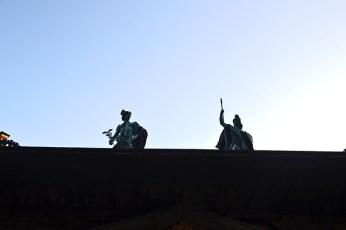 Esculturas clásicas tejado Casa Rubens Amberes