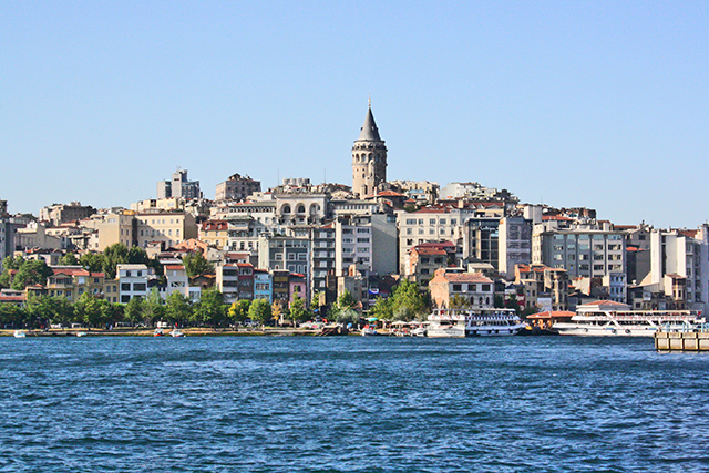 Vistas torre Galata Bósforo Estambul