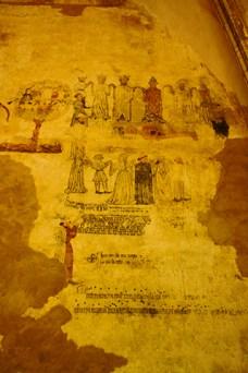 Restos murales Castillo Morella Castellón