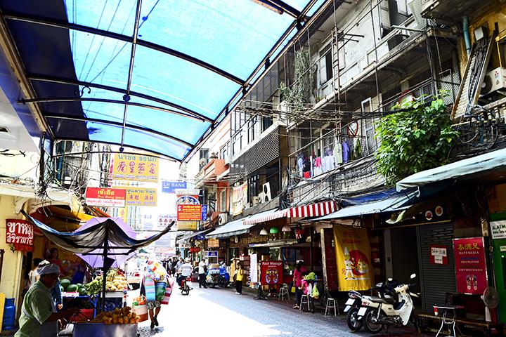 Interior calles barrio Chinatown Bangkok