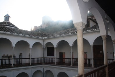 Vistas Alhambra claustro Museo Arqueológico Granada