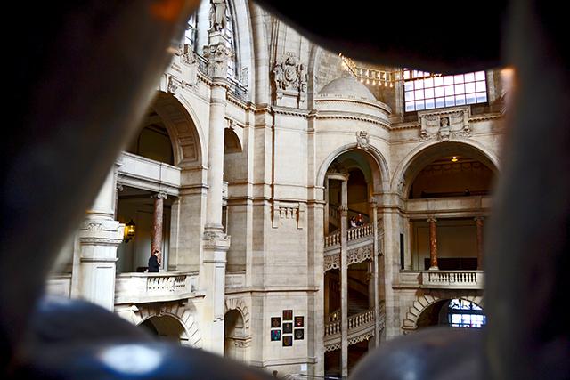 Vistas balcones pilares interior ayuntamiento nuevo Hannover