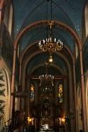 Interior iglesia madera Zakopane Polonia