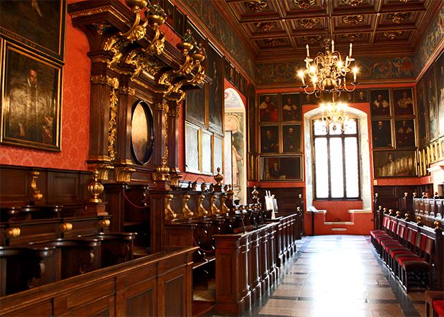 Sala claustro aula magna interior Collegium Maius Cracovia