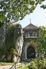Entrada castillo parque nacional Ojców Polonia