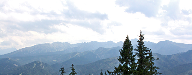 Vistas montes Tatra frontera Polonia Eslovaquia Zakopane Polonia