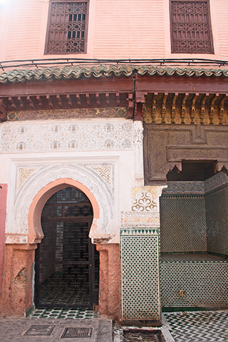 Zaouia Sidi Ben Slimane El Jazouli celosía medina Marrakech