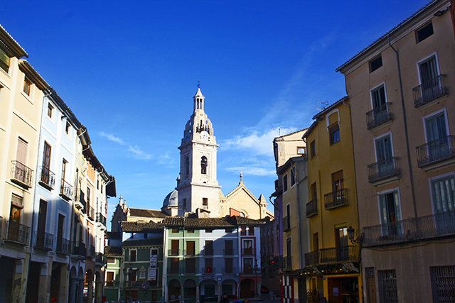 Plaza centro histórico casas típicas Xàtiva Valencia