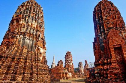 Mazorcas Camboya ruinas Wat Phra Ram Ayutthaya Tailandia
