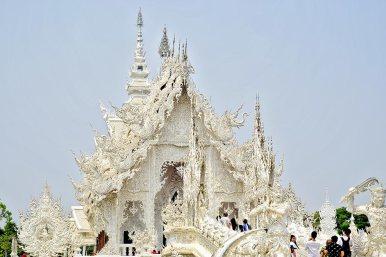 Maravilla belleza entrada Templo Blanco Chiang Rai