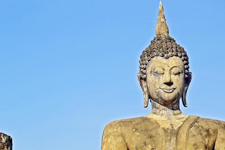 Cara buda sonriente Sukhothai