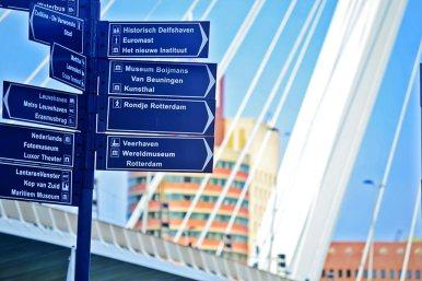 Señales puerto Rotterdam Puente Erasmo