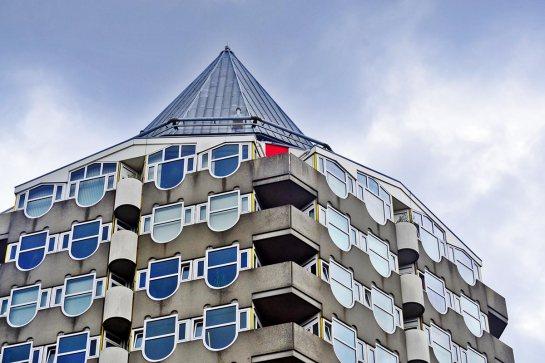 Vista superior edifico lápiz Rotterdam