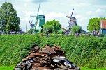 Molinos viento perfil panorámica Zaanse Schaans