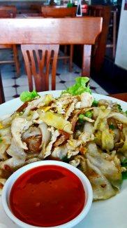 Pad Thai salsa picante restaurante norte Tailandia