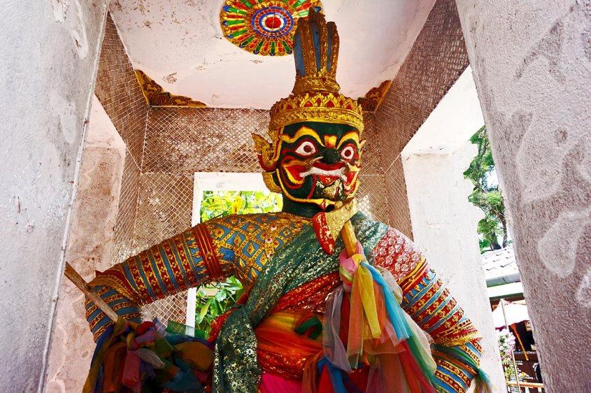 Guardián mitología Tailandesa colores Doi Suthep Chiang Mai