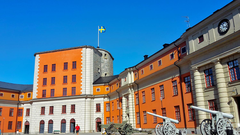 Fortaleza defensa cañones Vaxholm