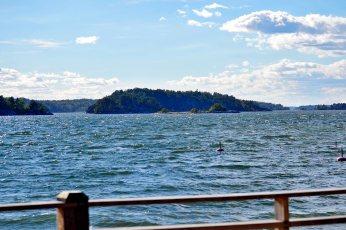 Panorámica mar archipiélago Estocolmo islas parque natural Grinda