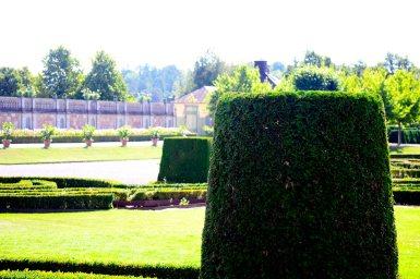 Setos césped cortados jardín Palacio Real Drottningholm Suecia