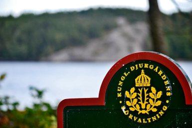Escudo Djurgardens Fjaderholmarna parque isla Suecia