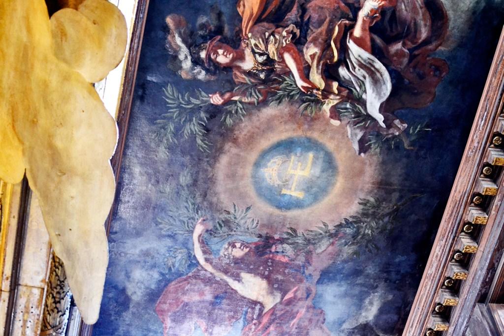 Frescos alegoría barroco ángeles techos interior salas Palacio Barroco Drottningholm Suecia