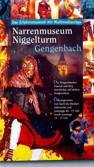 Cartel fiestas bruja máscaras Carnaval Narrenmuseum Gengenbach