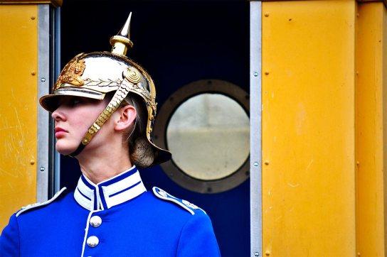 Soldado guardia real Suecia Palacio Real Estocolmo