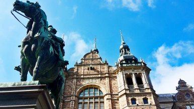 Caballo escultura fachada Nordiska Museet