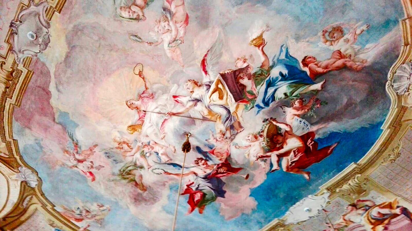 Frescos alegoría techo Palacio Ludwigsburg Selva Negra Alemania