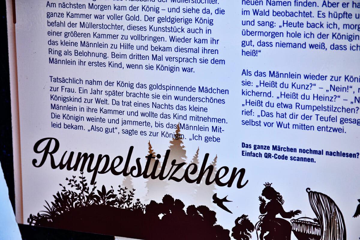 Texto historia cuento Rapunzel Märchengarten Alemania
