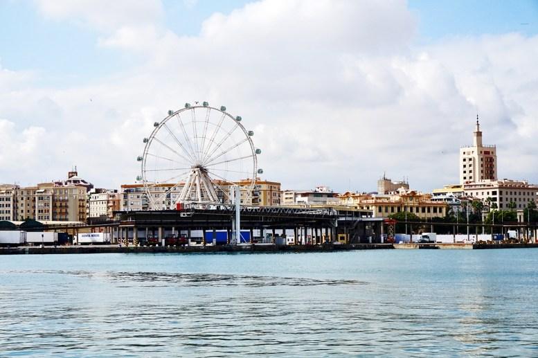 Panorámica marítima noria Málaga