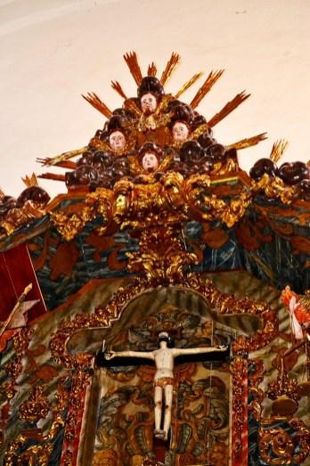 Retablo barroco Iglesia parroquial Mogarraz Sierra de Francia Salamanca