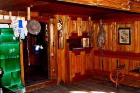 Interior vivienda típica madera Selva Negra Gutach Alemania
