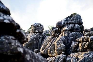 Sucesión piedras calcáreas El Torcal Antequera