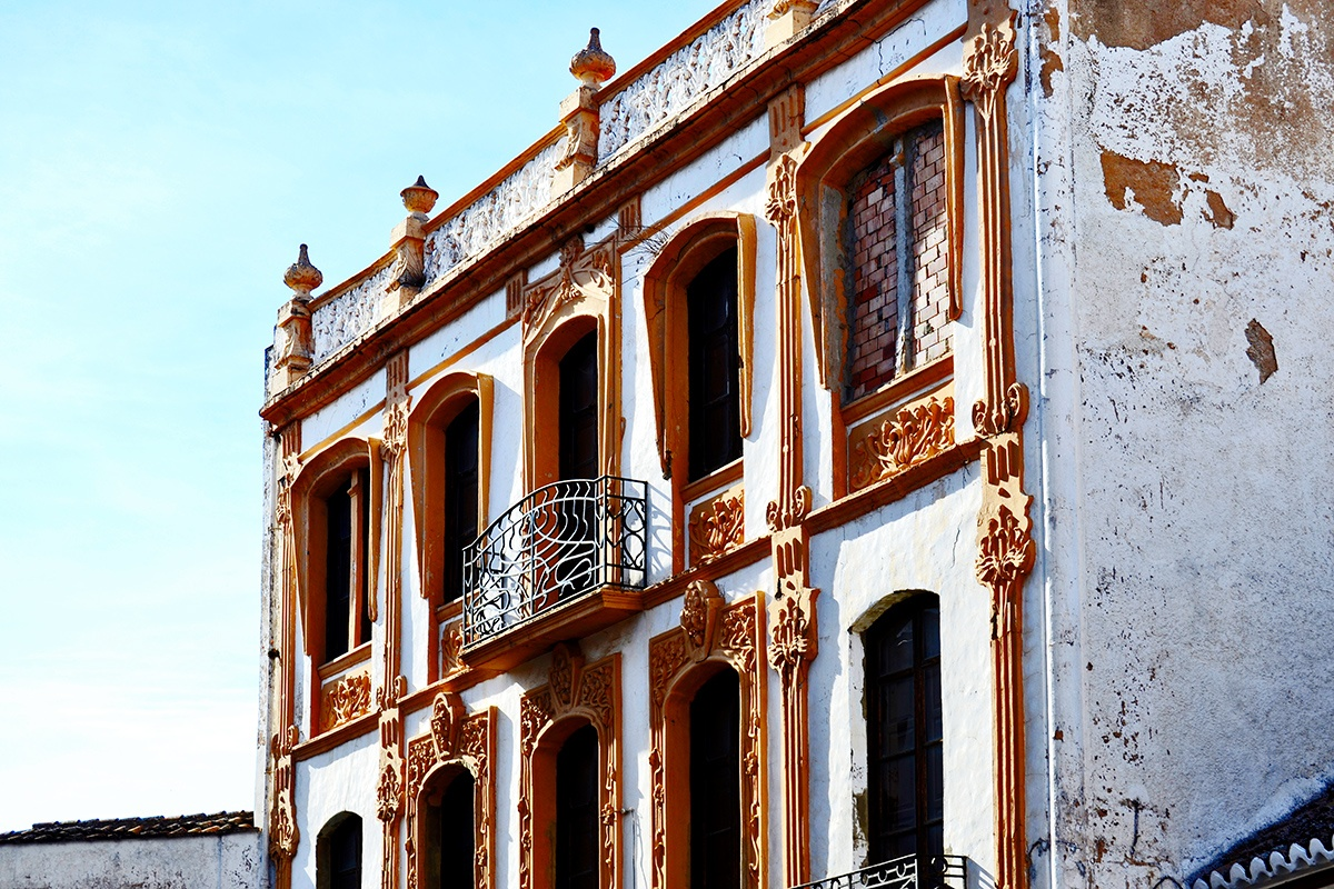 Fachada modernista centro Ronda Málaga