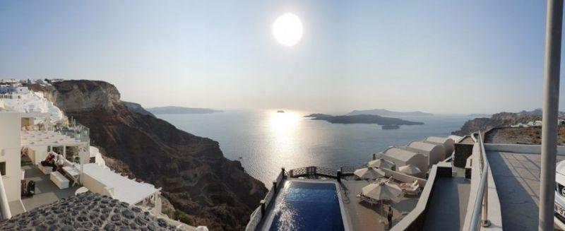 dormir en Santorini