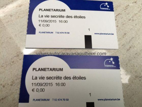 ticket acceso Planetarium