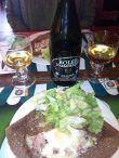galette especial, Campagnarde, de La Vieille Auberge, en la Grand Rue Intra Muros, con una buena cidre bretonne