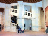 Castillos Loira - Chambord - doble escalinata