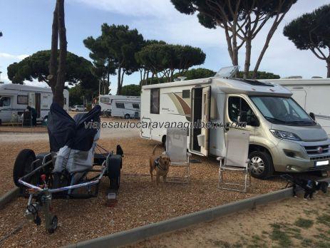 Motorhome, Praia de Falésia, Algarve