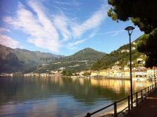 Domaso, desde aquí salen barcos hacia todos los pueblos del Lago Como, y hay una intensa actividad deportiva