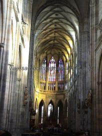 nave principal, de gran altura, y coro Catedral San Vito