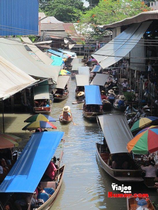 Damnoen Saduak mercado flotante cerca de bangkok