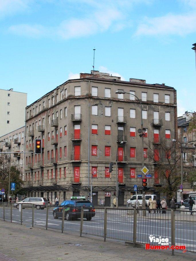 edificios segunda guerra mundial barrio de praga varsovia