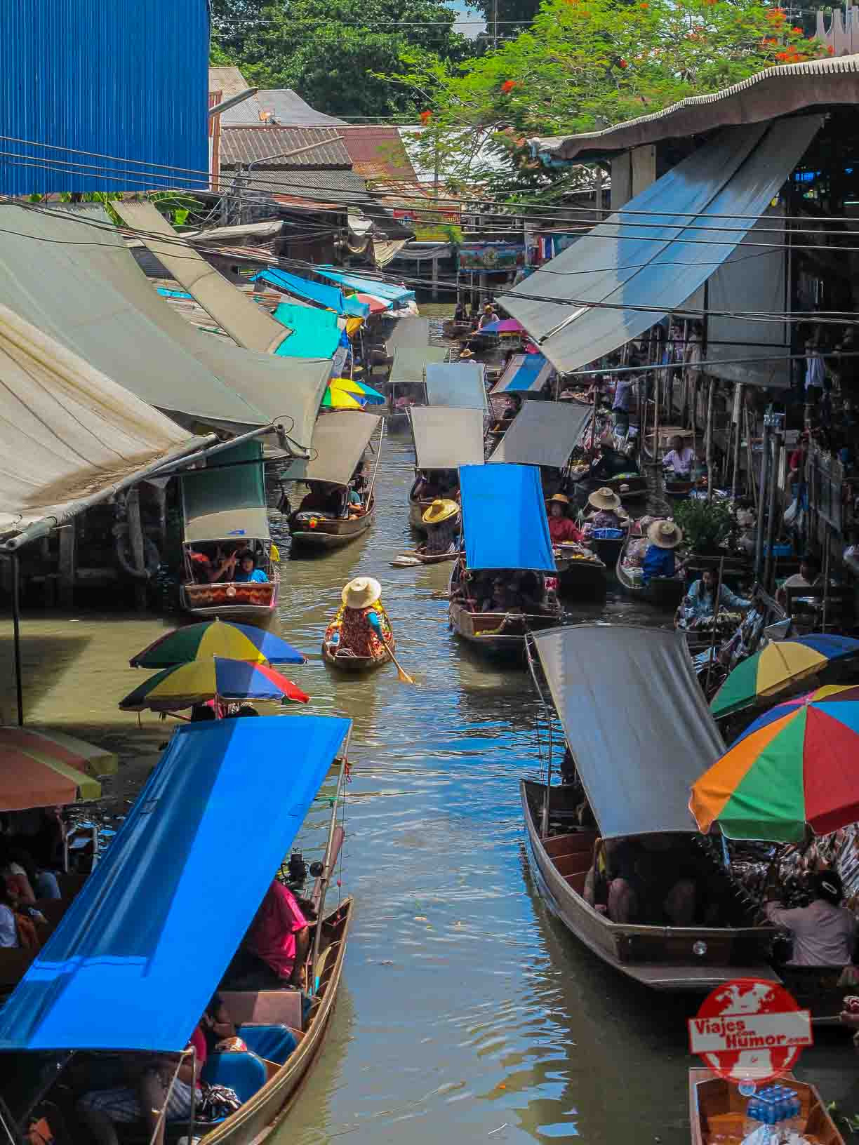 mercado damnoen saduak tailandia