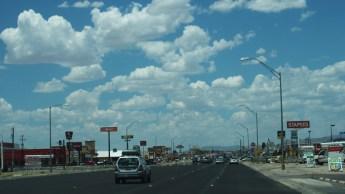 Vista de Alamogordo, típica población de la zona
